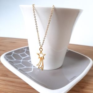 Shooting Star Gold Tone Necklace